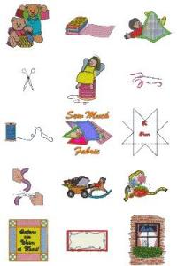 Down Home Dreams 129 Sew Much Fabric Embroidery Designs Floppy Disk