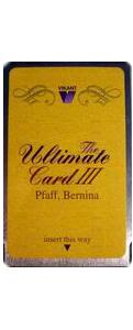 13267: Vikant Ultimate Card III Embroidery Blank Card, Bernina Artista Pfaff