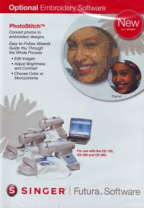 13498: Singer PhotoStitch FUT4-005B Embroidery Software, No AutoPunch Required