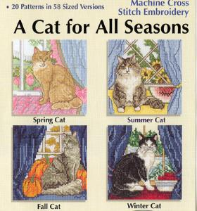Sudberry House D6900 A Cat For All Seasons Machine Cross Stitch Multi-Formatted CD