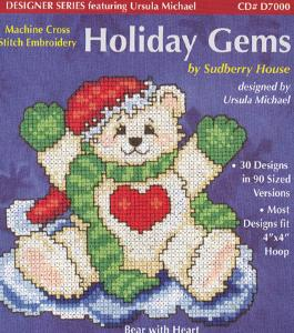 Sudberry House D7000 Holiday Gems Machine Cross Stitch Multi-Formatted CD