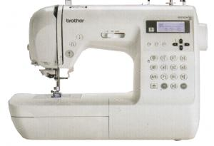 Brother Demo Innovis NS80 Stitch Project Runway Computer Sewing Machine, 2Fonts, 10x1Step Buttonholes, 55 Alphabet Characters, 35 Stitch Memory, 6Mo0%