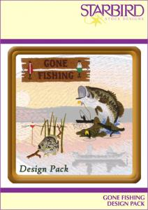 Starbird Embroidery Designs Gone Fishing Design Pack