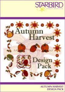 Starbird Embroidery Designs Autumn Harvest Design Pack