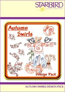 Starbird Embroidery Designs Autumn Swirls Design Pack