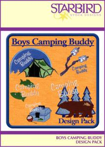 Starbird Embroidery Designs Boys Camping Buddy Design Pack