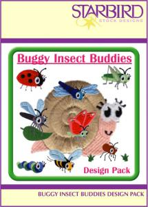 Starbird Embroidery Designs Buggy Insect Buddies Design Pack