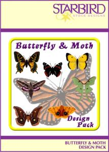 Starbird Embroidery Designs Butterfly & Moth Design Pack