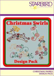 Starbird Embroidery Designs Christmas Swirls Design Pack