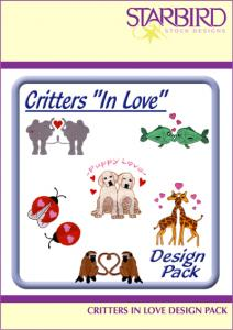 Starbird Embroidery Designs Critters In Love Design Pack