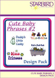 Starbird Embroidery Designs Cute Baby Phrases #2 Design Pack
