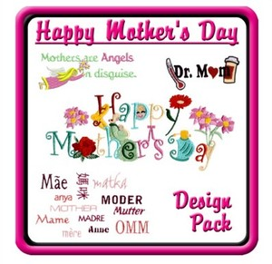Starbird Embroidery Designs Happy Mother's Day Design Pack