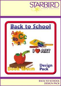 Starbird Embroidery Designs Back to School Design Pack