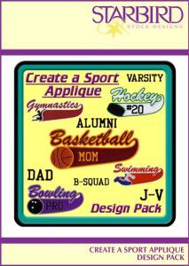 Starbird Embroidery Designs Create A Sport Design Pack