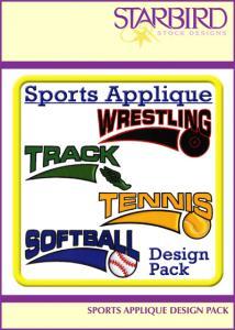 Starbird Embroidery Designs Sports Applique Design Pack