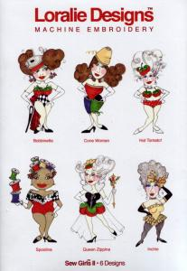 Loralie Embroidery Designs 631043 Sew Girls II Multi-Formatted CD