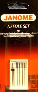 Janome 46- 200343004 5 Needles Assorted Sizes: Household Sewing Machines