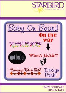 Starbird Embroidery Designs Baby On Board Design Pack