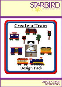 Starbird Embroidery Designs Create-a-Train Design Pack