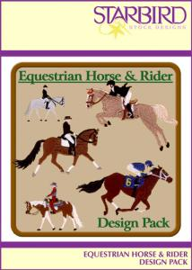 Starbird Embroidery Designs Equestrian Horse & Rider Design Pack