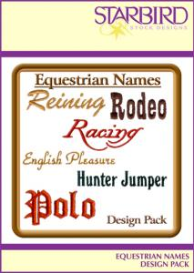 Starbird Embroidery Designs Equestrian Names Design Pack