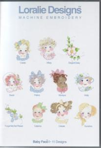 Loralie Embroidery Designs Baby Face I - Multi-Formatted CD