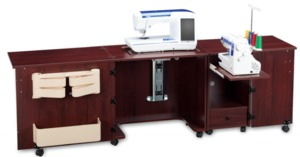 Shown in Mahogany Clove (sewing machine and serger not included)