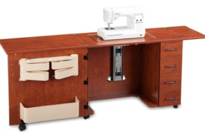 Shown in Sunset Cherry. (sewing machine not included)