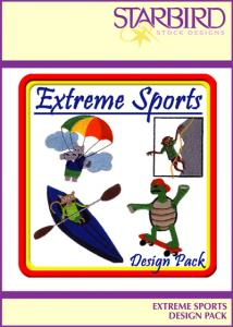 Starbird Embroidery Designs Extreme Sports Design Pack