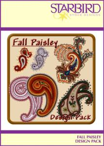 Starbird Embroidery Designs Fall Paisley Design Pack