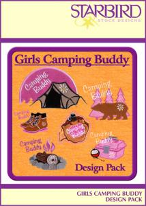 Starbird Embroidery Designs Girls Camping Buddy Design Pack