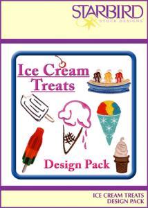 Starbird Embroidery Designs Ice Cream Treats Design Pack