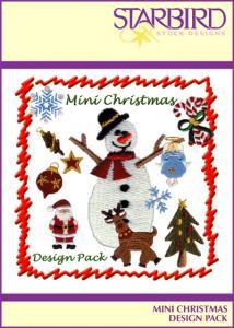 Starbird Embroidery Designs Mini Christmas Design Pack