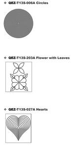 "Quilt-EZ Block Quilting Design Templates, Choose from Various Styles (13"" x 12"") QuiltEZ"