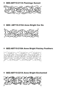 Quilt-EZ Mid Arm Quilting Design Template, Choose from Various Designs
