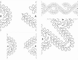 Quilt-EZ Kathy Olsen Feather Ends Quilting Design Templates, Choose from Various Styles QuiltEZ