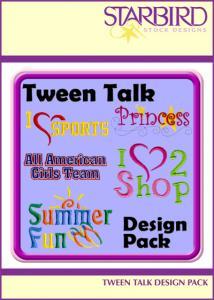 Starbird Embroidery Designs Tween Talk Design Pack