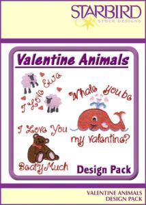 Starbird Embroidery Designs Valentine Animals Design Pack
