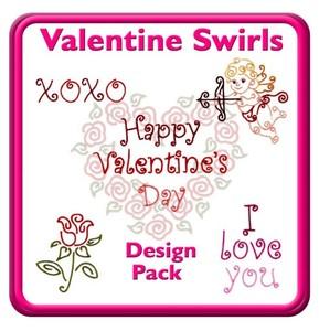 Starbird Embroidery Designs Valentine Swirls Design Pack