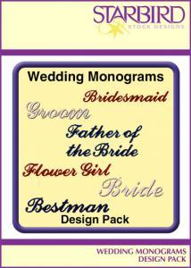 Starbird Embroidery Designs Wedding Monograms Design Pack