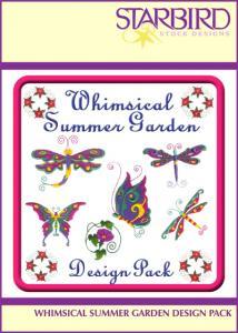 Starbird Embroidery Designs Whimsical Summer Garden Design Pack