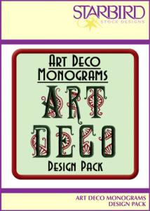 Starbird Embroidery Designs Art Deco Monograms Design Pack
