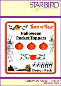 Starbird CD091204TAST Embroidery Designs Halloween Pocket Toppers Design Pack CD