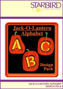 Starbird Embroidery Designs Jack-O-Lantern Alphabet Design Pack
