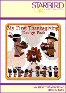 Starbird Embroidery Designs My First Thanksgiving Design Pack