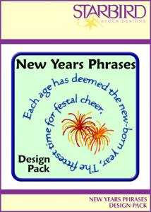 Starbird Embroidery Designs New Years Phrases Design Pack