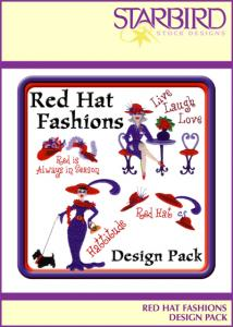 Starbird Embroidery Designs Red Hat Fashions Design Pack