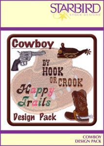 Starbird Embroidery Designs Cowboy Design Pack