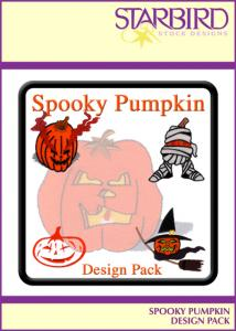 Starbird Embroidery Designs Spooky Pumpkins Design Pack