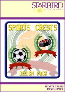 Starbird Embroidery Designs Sports Crest Design Pack